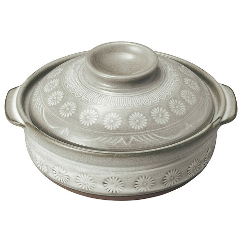 54007-350 銀峯花三島 5.5号鍋|業務用食器カタログ陶里30号