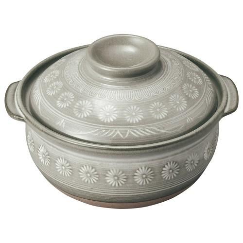 54009-350 銀峯花三島 雑炊鍋|業務用食器カタログ陶里30号