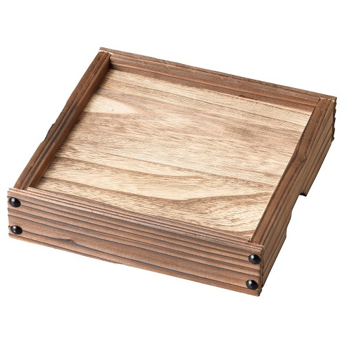 54027-350 銀峯花三島 焼杉高台板(小)|業務用食器カタログ陶里30号