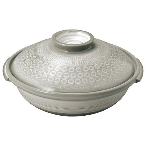 54101-350 銀峯京三島 11号鍋|業務用食器カタログ陶里30号