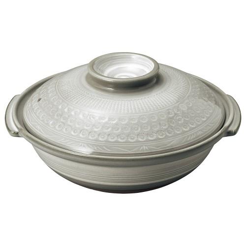 54102-350 銀峯京三島 10号鍋|業務用食器カタログ陶里30号
