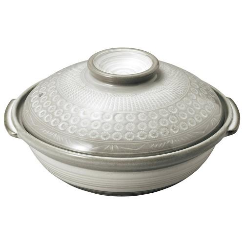 54103-350 銀峯京三島 9号鍋|業務用食器カタログ陶里30号