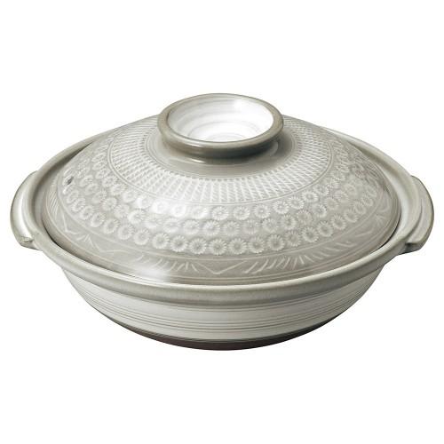 54104-350 銀峯京三島 8号鍋|業務用食器カタログ陶里30号