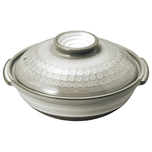 54105-350 銀峯京三島 7号鍋|業務用食器カタログ陶里30号