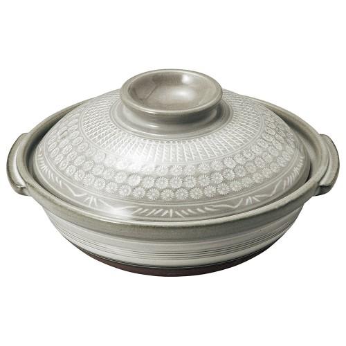 54106-350 銀峯京三島 6号鍋|業務用食器カタログ陶里30号