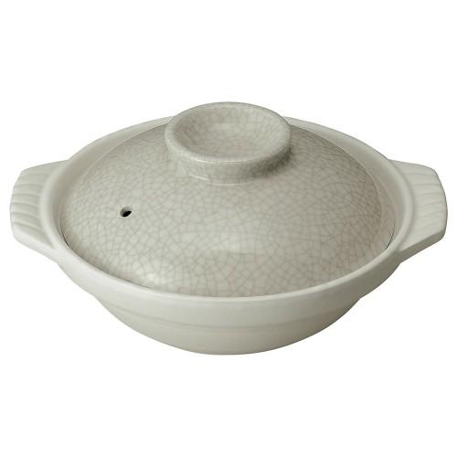 54133-350 銀峯墨貫入 8号鍋|業務用食器カタログ陶里30号
