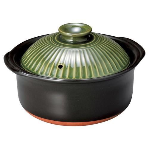 54403-350 銀峯菊花織部2合ごはん鍋|業務用食器カタログ陶里30号