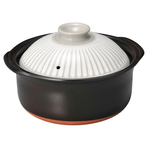 54408-350 菊花粉吹3合ごはん鍋(中蓋付)|業務用食器カタログ陶里30号