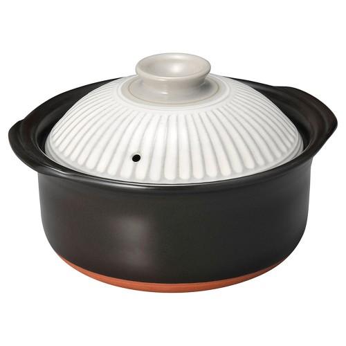 54409-350 菊花粉吹2合ごはん鍋(中蓋付)|業務用食器カタログ陶里30号