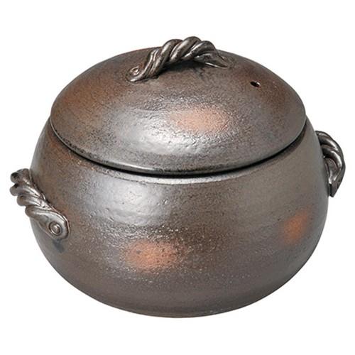 54502-350 黒吹5合ごはん炊鍋|業務用食器カタログ陶里30号