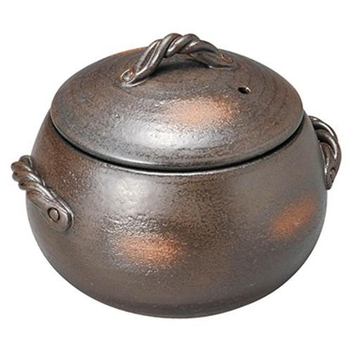 54503-350 黒吹3合ごはん炊鍋|業務用食器カタログ陶里30号