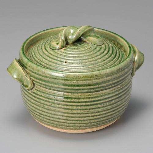 54505-430 緑釉五合炊御飯鍋|業務用食器カタログ陶里30号