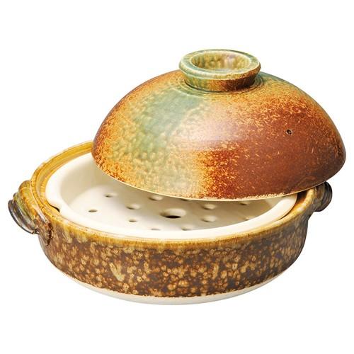 54601-480 南蛮織部9号むし鍋(サナ付)|業務用食器カタログ陶里30号