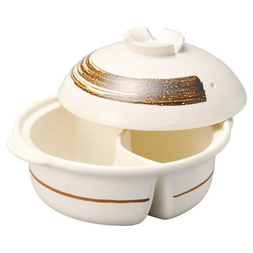 54602-480 鉄刷毛目9号仕切鍋|業務用食器カタログ陶里30号