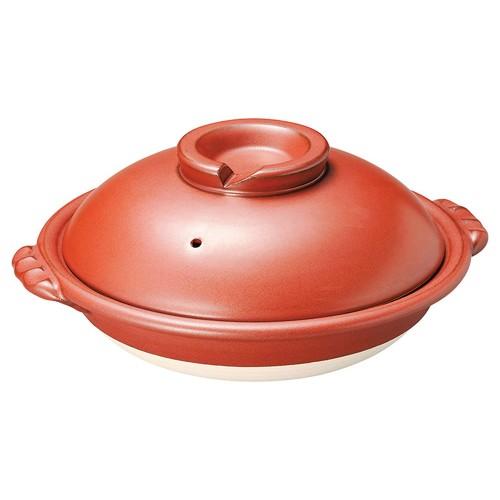 54606-480 鉄赤8号スッポン鍋|業務用食器カタログ陶里30号