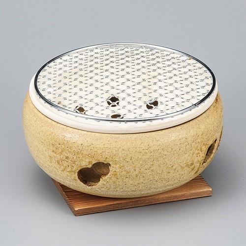 54802-350 刷毛目水コンロ7号|業務用食器カタログ陶里30号