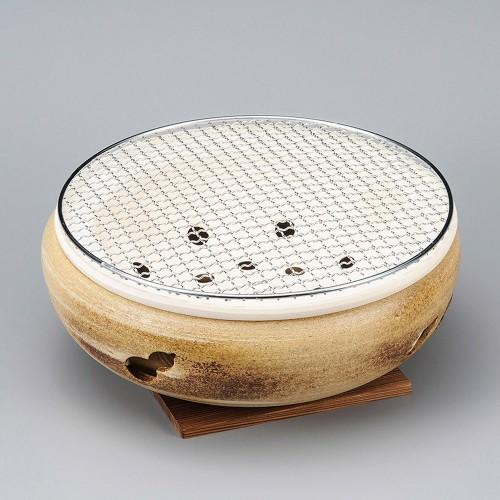 54803-350 刷毛目水コンロ10号|業務用食器カタログ陶里30号