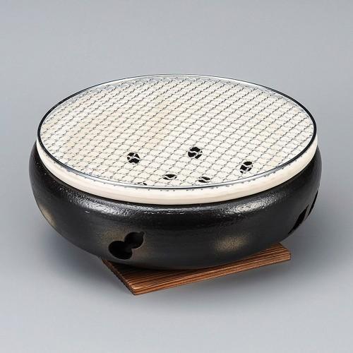 54810-480 黒10号伊勢コンロ(金網・板付)|業務用食器カタログ陶里30号
