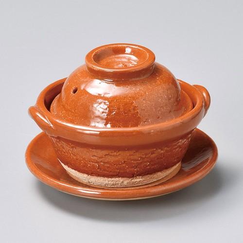 55008-430 赤楽4.5号鍋(受皿付)|業務用食器カタログ陶里30号