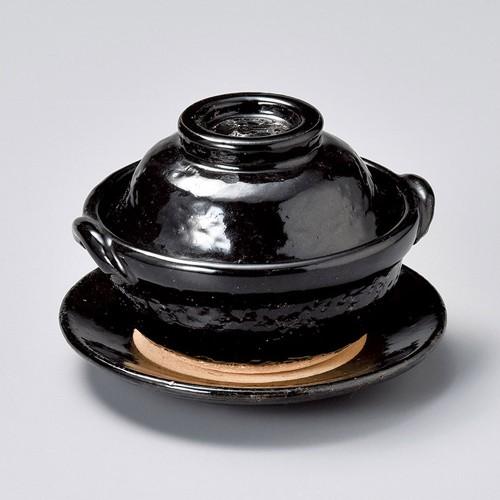 55009-430 黒楽4.5号鍋(受皿付)|業務用食器カタログ陶里30号