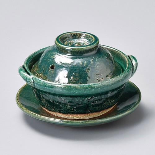 55010-430 織部4.5号鍋(受皿付)|業務用食器カタログ陶里30号