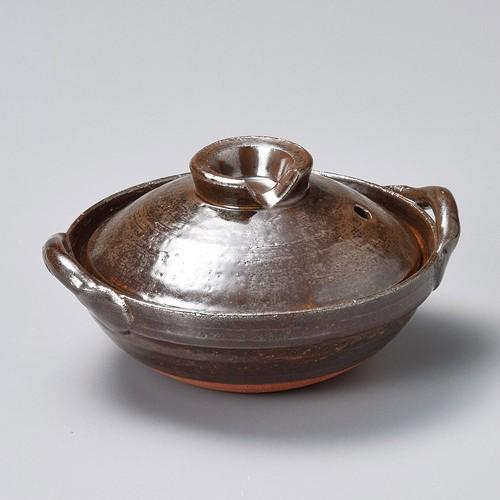 55018-350 アメ釉5号炊鍋|業務用食器カタログ陶里30号
