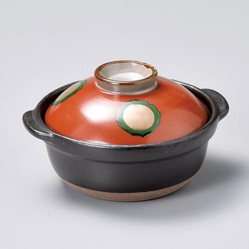 55026-480 朱巻金紋5号鍋|業務用食器カタログ陶里30号
