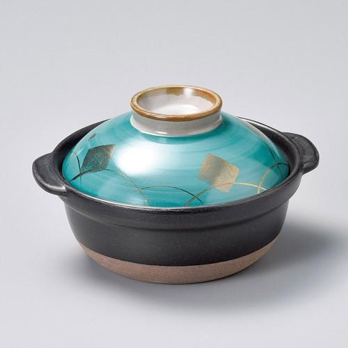 55027-480 グリーン金紋5.5号鍋|業務用食器カタログ陶里30号