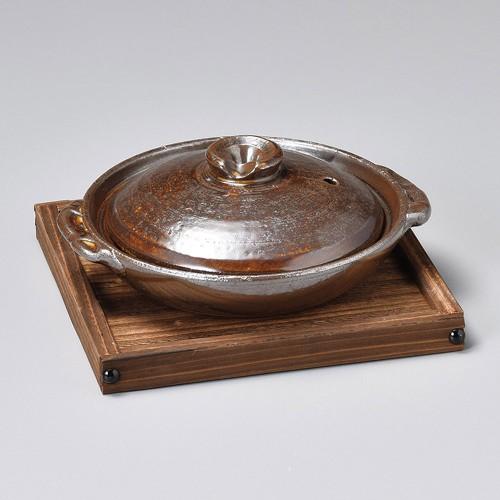 55103-350 アメ釉5号柳川鍋|業務用食器カタログ陶里30号