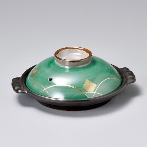 55114-480 グリーン金紋6号陶板|業務用食器カタログ陶里30号