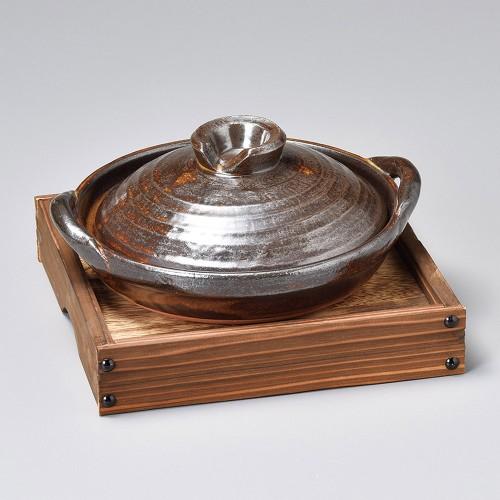 55123-350 アメ釉6号柳川陶板|業務用食器カタログ陶里30号