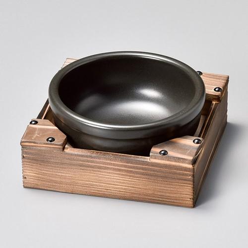 55308-350 ビビンバ鍋(黒)(小)|業務用食器カタログ陶里30号