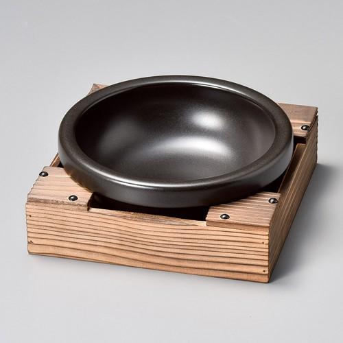 55312-350 ビビンバ焼杉箱台(大)(底板付)|業務用食器カタログ陶里30号