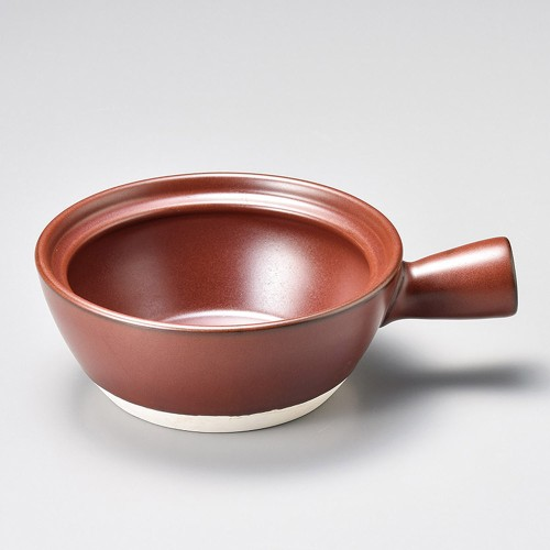 55321-400 鉄赤耐熱片手鍋 (大)|業務用食器カタログ陶里30号