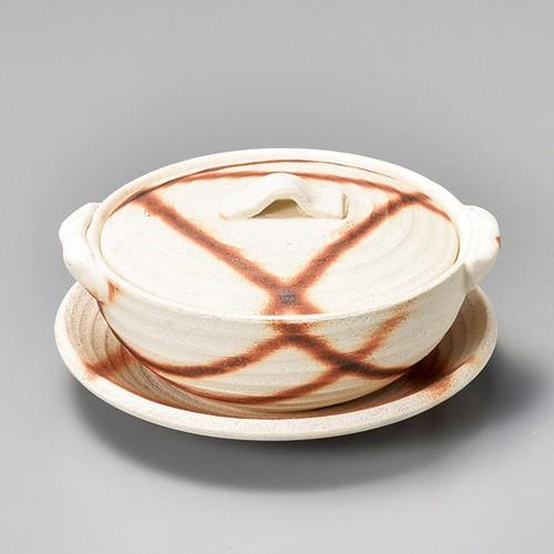 55402-460 荒土焼締火だすき 4.5丸皿 業務用食器カタログ陶里30号