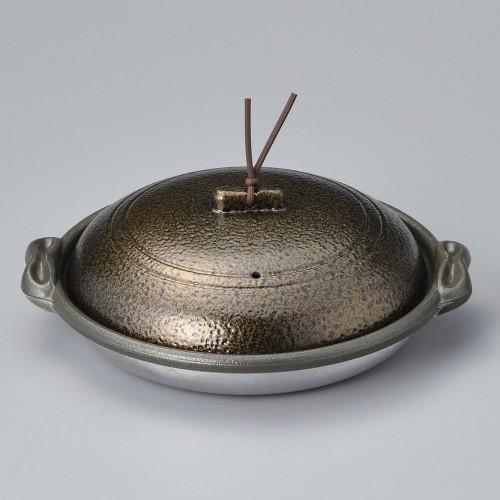 55810-330 庵陶板(深)18深皿いぶし金 業務用食器カタログ陶里30号