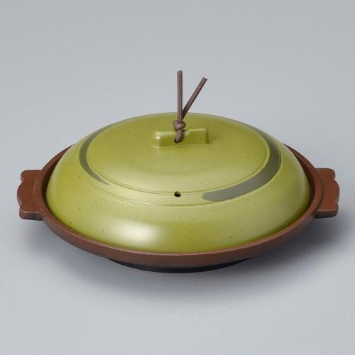 55815-330 丸陶板(浅)16浅皿うぐいす 業務用食器カタログ陶里30号