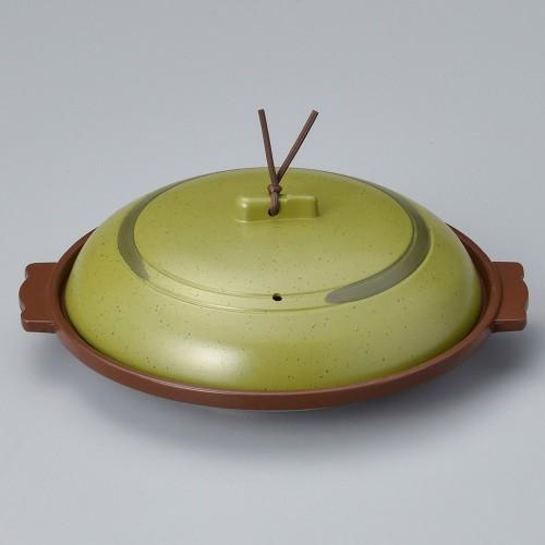 55816-330 丸陶板(浅)18浅皿うぐいす 業務用食器カタログ陶里30号