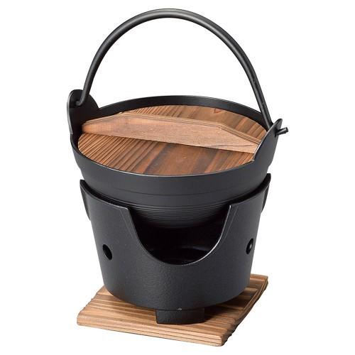 55821-330 新ふるさと鍋(黒)15(M10-002) 業務用食器カタログ陶里30号