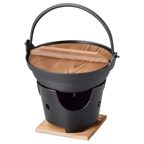 55822-330 新ふるさと鍋(黒)18(M10-004) 業務用食器カタログ陶里30号