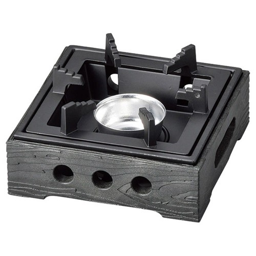 55906-330 PP製民芸コンロB-1黒(M11-504)火入れ付|業務用食器カタログ陶里30号