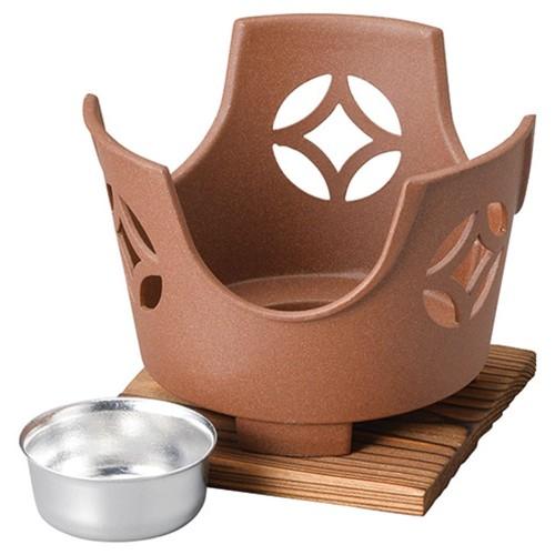 55920-330 丸こんろ七宝茶(大)(M10-796)火入れ・敷板付|業務用食器カタログ陶里30号