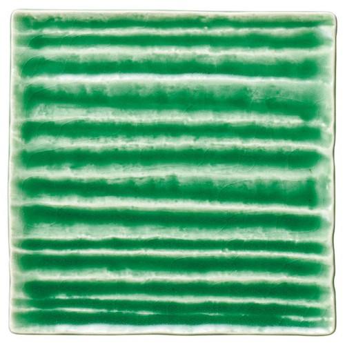56202-830 和流 15cmスクエアプレート(織部流し)|業務用食器カタログ陶里30号