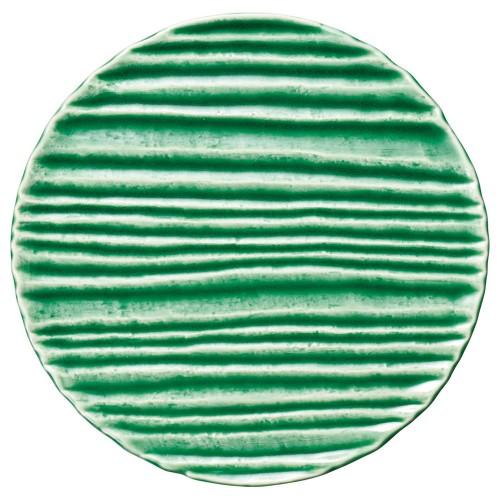 56206-830 和流 25cmサークルプレート(織部流し)|業務用食器カタログ陶里30号