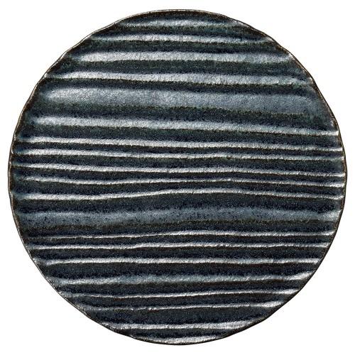 56221-830 和流 25cmサークルプレート(藍潤)|業務用食器カタログ陶里30号