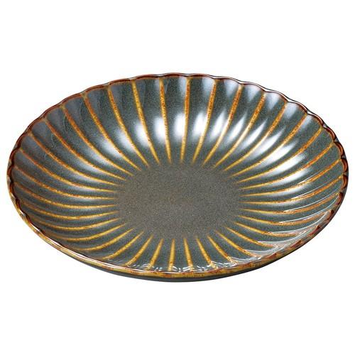 56301-120 かすみ山藍 18cm丸皿|業務用食器カタログ陶里30号