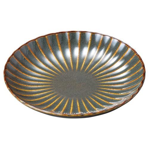 56302-120 かすみ山藍 16.5cm丸皿|業務用食器カタログ陶里30号