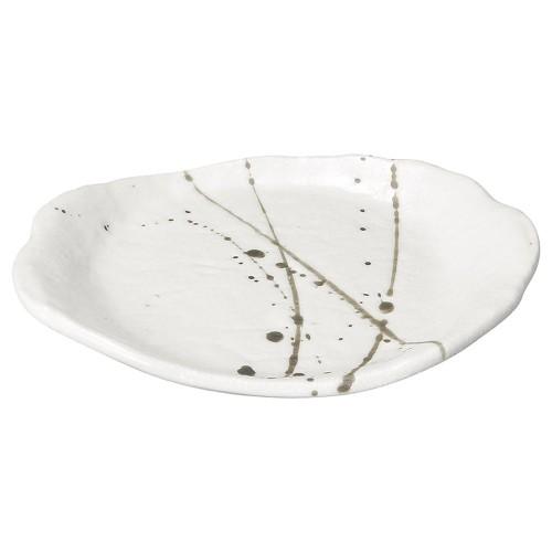 58422-300 筆流し白 白一服皿|業務用食器カタログ陶里30号