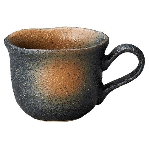 60106-220 黒備前吹き フリルコーヒー碗のみ|業務用食器カタログ陶里30号