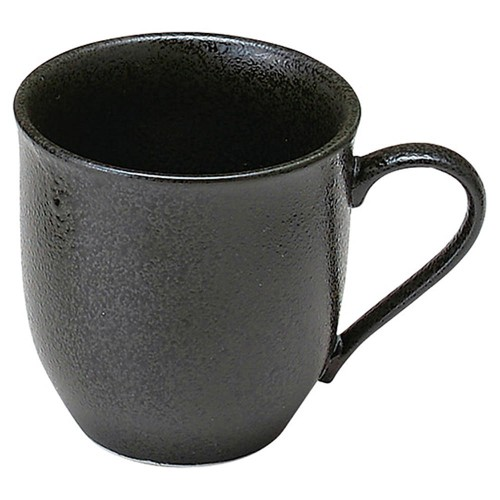 61131-260 新生黒マット水晶(美濃焼) 高台マグ(軽量)|業務用食器カタログ陶里30号